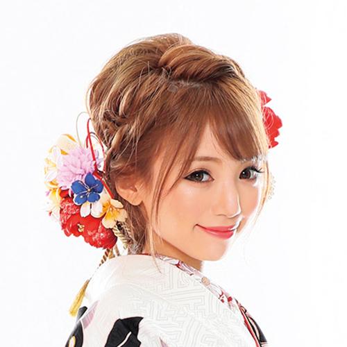 【髪飾り】桜(黒/茶)