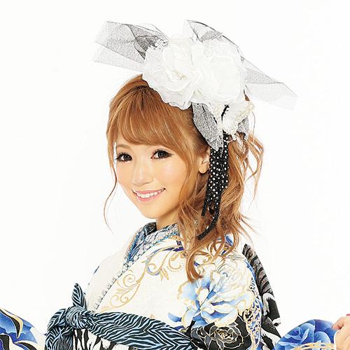 【髪飾り】花バタフライWhite