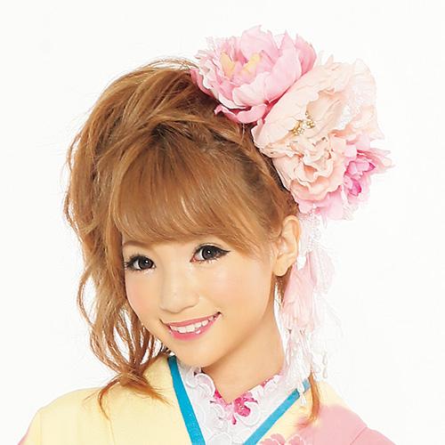 【髪飾り】超ドデカ牡丹Pink