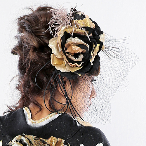 【髪飾り】Gold&Black