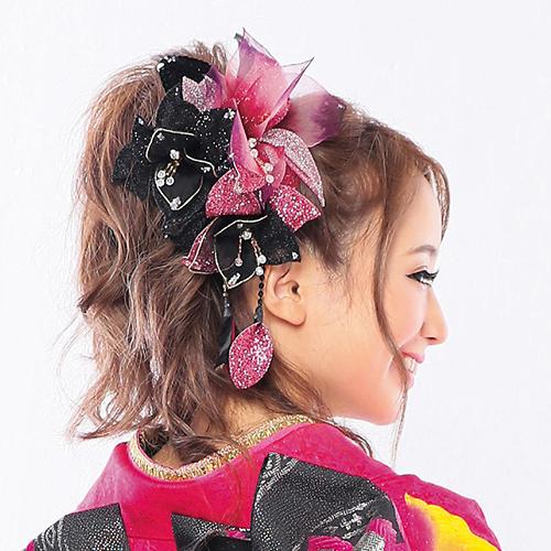 【髪飾り】レトロ菊 purple