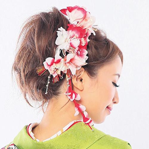 【髪飾り】モダン小花